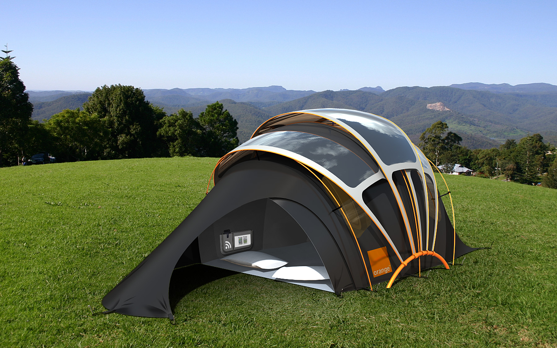 This 4-person solar tent is one of the ultimate green c&ing gadgets! Solar cells built into the tent gather energy during the day so you can charge ... : most amazing tents - memphite.com