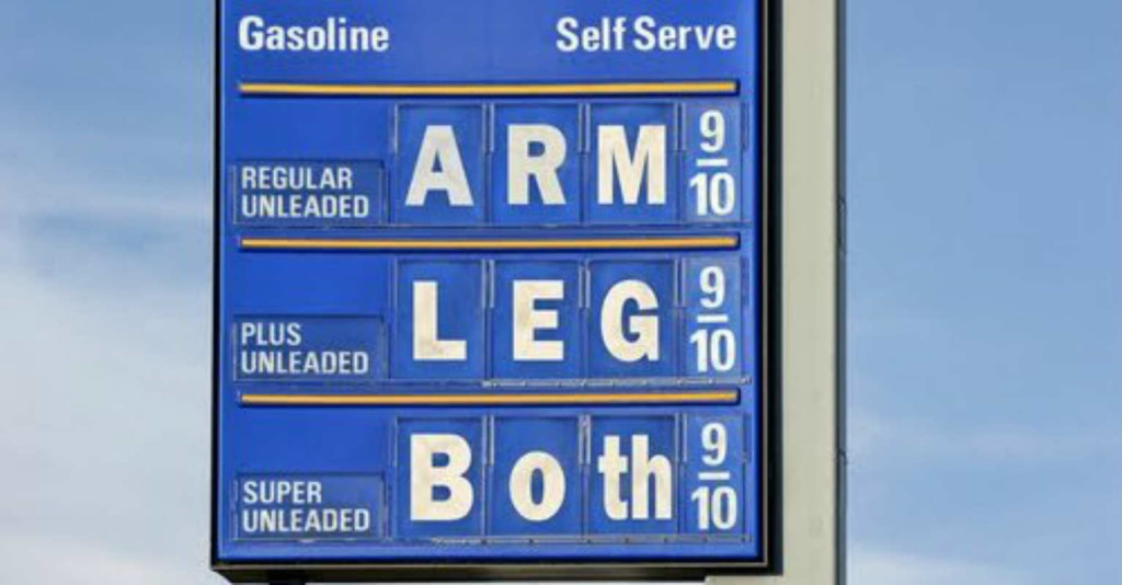 Gas prices can cost an arm and a leg