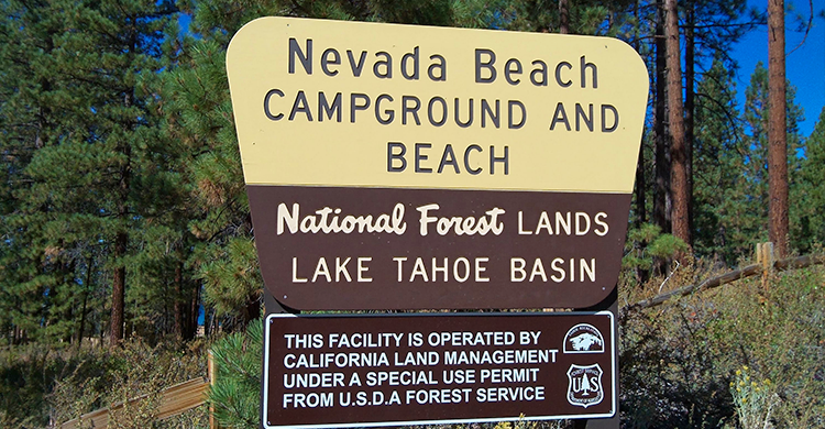 Lake Tahoe RV Parks - Nevada Beach