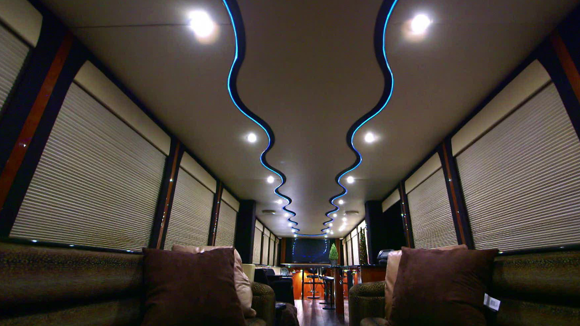 Mariah Carey's RV lounge and dance club.