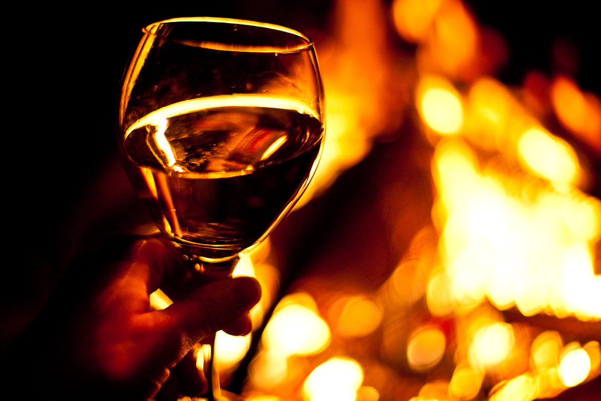 rving millens wine and campfire