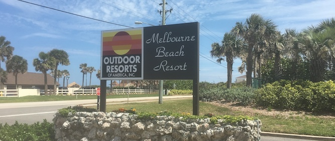 Outdoor Resorts Melbourne Beach Front Entrance